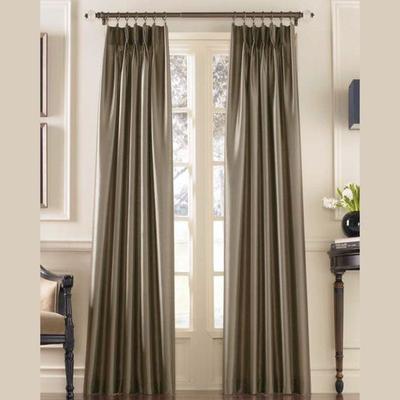 Marquee Pinch Pleat Curtain Panel, 30 x 144, Dark Gray