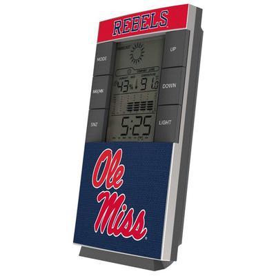 Ole Miss Rebels End Zone Digital Desk Clock