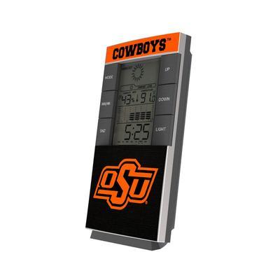 Oklahoma State Cowboys End Zone Digital Desk Clock