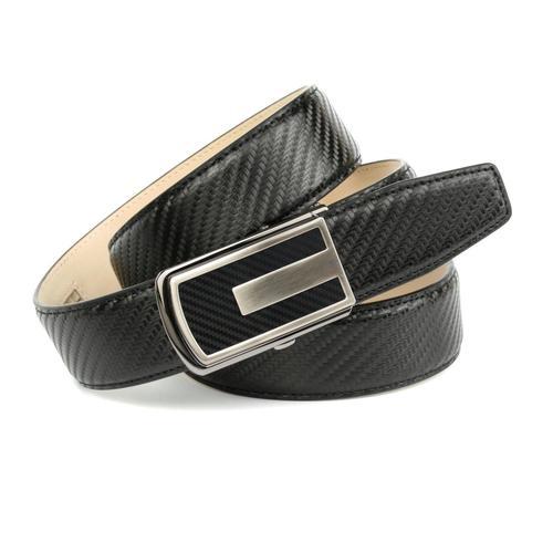Anthoni Crown Ledergürtel, mit strukturierter Oberfläche schwarz Damen Ledergürtel Gürtel Accessoires