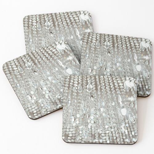 Kronleuchter aus Kristallen und Licht Untersetzer