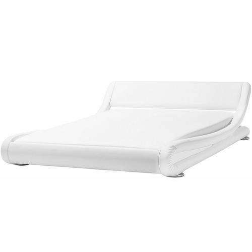 Wasserbett Weiß Kunstleder 180 x 200 cm Modern
