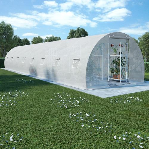 vidaXL Gewächshaus mit Stahlfundament 36 m² 1200 x 300 x 200 cm