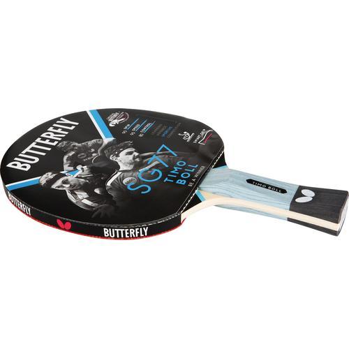 Butterfly Tischtennisschläger Timo Boll SG77, Einzigartige Grifftechnologie smart.grip beige Tischtennis-Ausrüstung Tischtennis Sportarten
