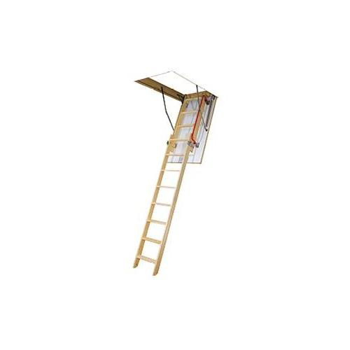 FAKRO Bodentreppe mit Holzleiter / Schiebeleiter LDK