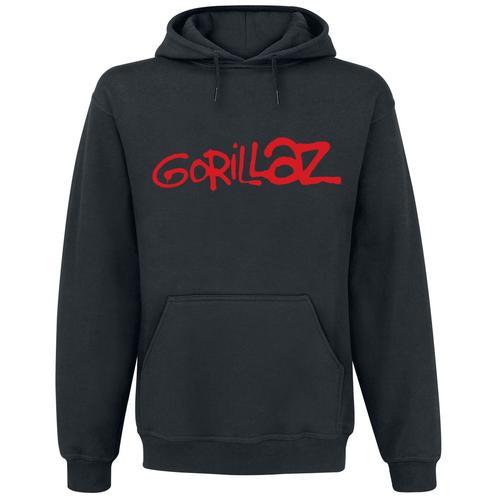 Gorillaz Logo Herren-Kapuzenpullover - schwarz - Offizielles Merchandise