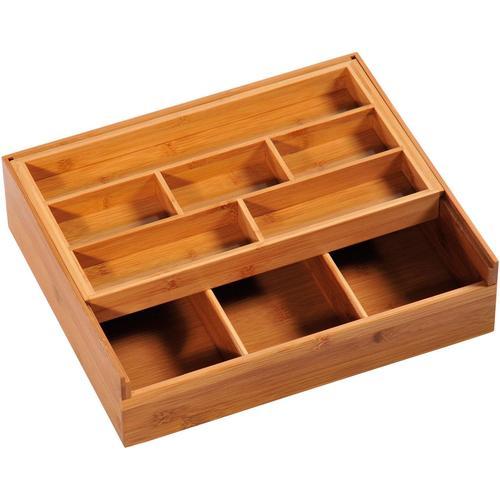 KESPER for kitchen & home Aufbewahrungsbox, verschieb- u. ausziehbar beige Körbe Boxen Regal- Ordnungssysteme Küche Ordnung Aufbewahrungsbox