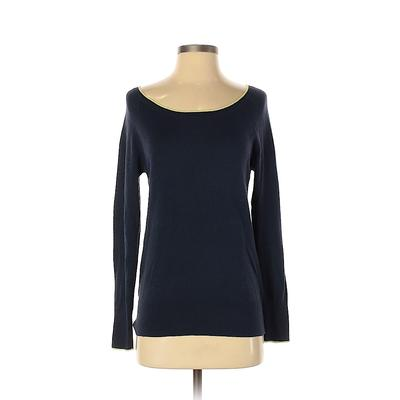 Gap Outlet Pullover Sweater: Blue Solid Tops - Size X-Small