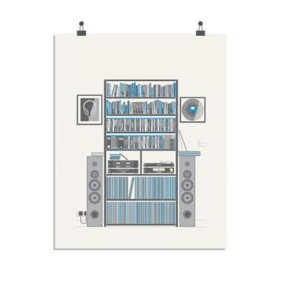 Sean Mort - Music Collector Print