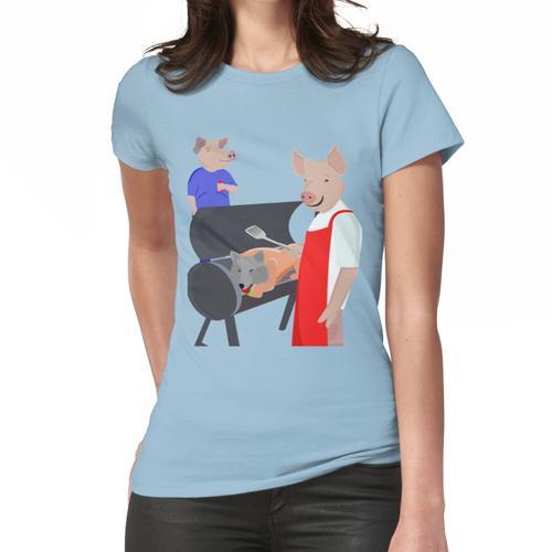 BBQ Schweinebraten Frauen T-Shirt