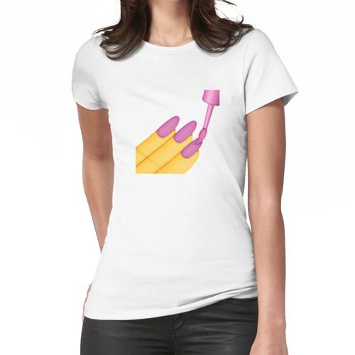 Nagellack Emoji Frauen T-Shirt