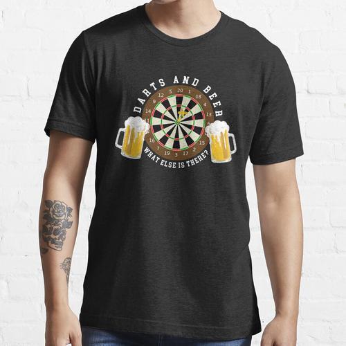 Darts and Beer - Dartscheibe Turnier Sport Spass Essential T-Shirt