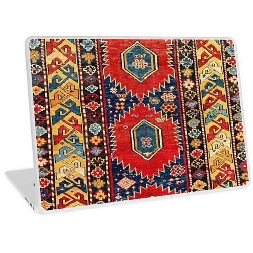 Antiker persischer kaukasischer Shirvan-Teppich Laptop Skin