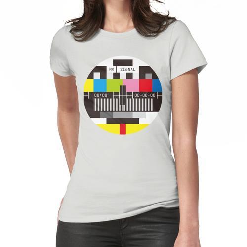Fernseh-Testbildschirm Kein Signal Frauen T-Shirt