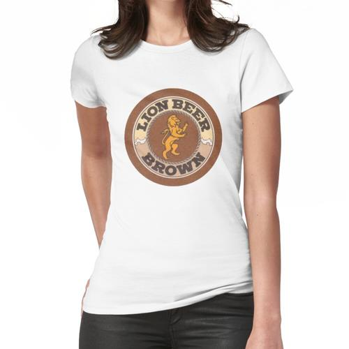 Lion Brown Bierdeckel Frauen T-Shirt