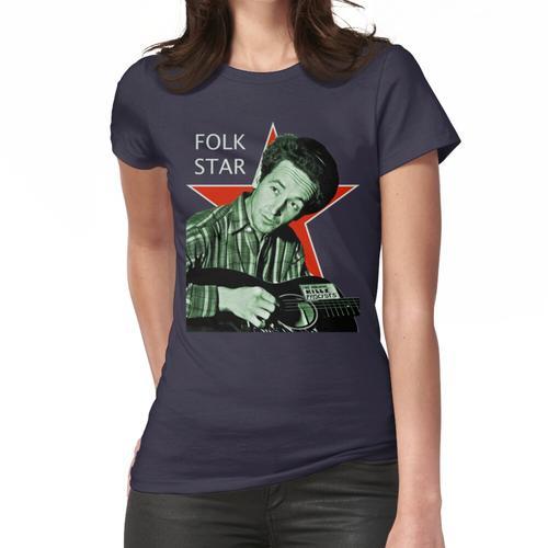 Woody Guthrie, Volksstern (Lg) Frauen T-Shirt