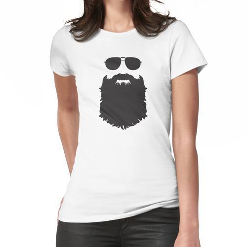 Fliegerbrille und Bart Frauen T-Shirt