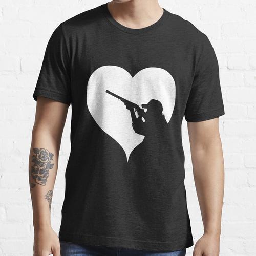 Herz Schießen Sportschütze Essential T-Shirt