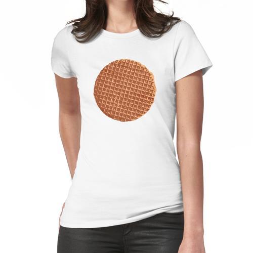 Holländische Waffel, Sirup Waffel oder de stroopwafel Frauen T-Shirt