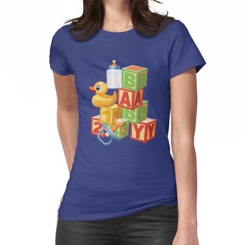 Blöcke, Enten Baby Abdl Adult Windel Frauen T-Shirt