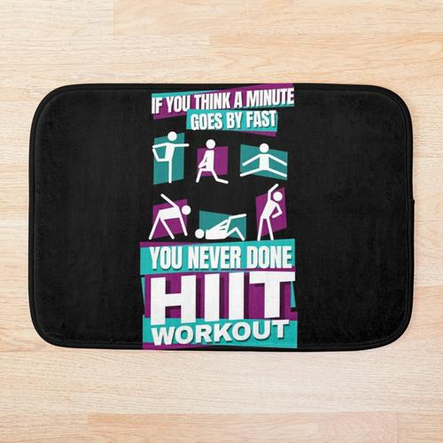 HIIT High intensity Intervall training Badematte