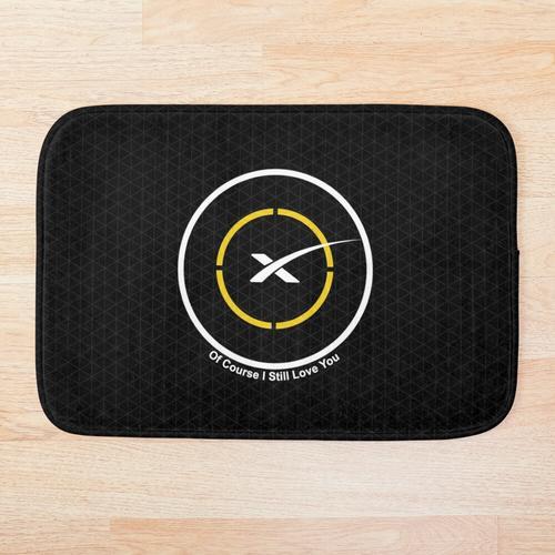 Space X Autonomes Drohnenschiff Natürlich liebe ich dich immer noch Badematte