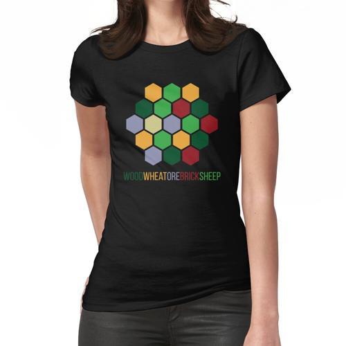 Siedler Ressource Brettspiel Frauen T-Shirt