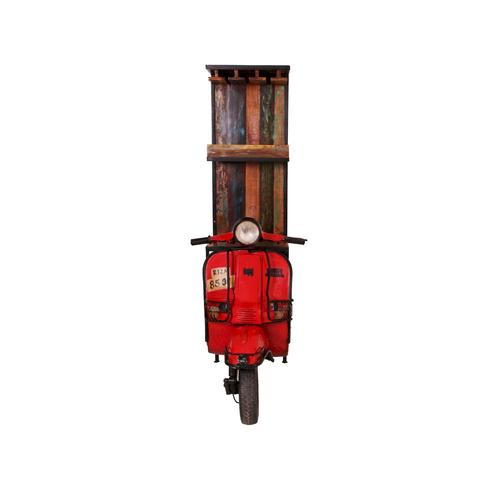 SIT This & That Roller-Barschrank Rot 1054-37 / B 46 x H 190 x T 98 cm