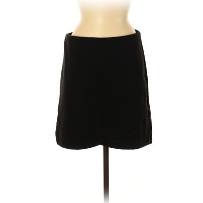 Ann Taylor LOFT Casual Skirt: Black Solid Bottoms – Size Medium