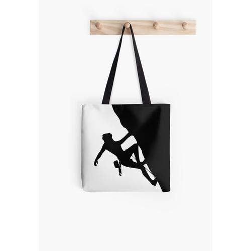 Klettern Silhouette Tasche