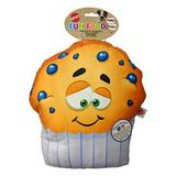 Ethical Pet Fun Food Blueberry Muffin Squeaky Plush Dog Toy