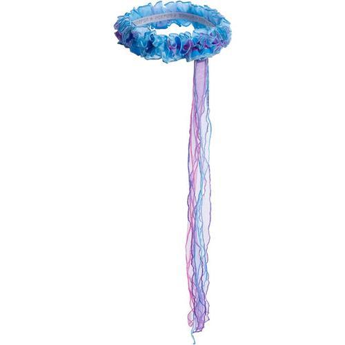 Haarkranz mit Bändern, blau
