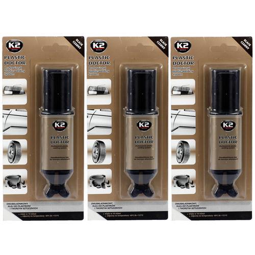 3xk2 Kunststoff Kleber 2k Universalkleber Epoxid Black