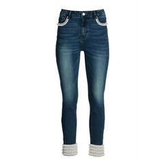 Boston Proper - Mixed Pearl Ankle Jean - Medium Wash - 16