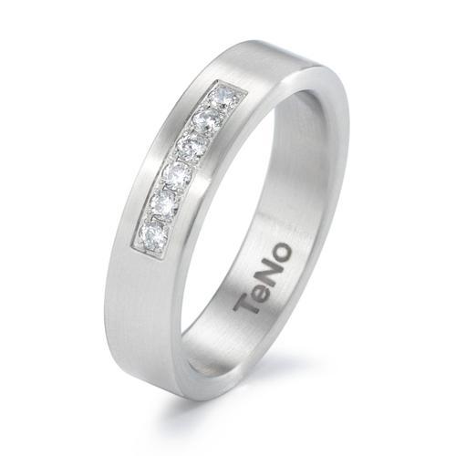 TeNo Brillant Ring YUNIS DELUXX mit 6 Brillanten TW/si im Pavée