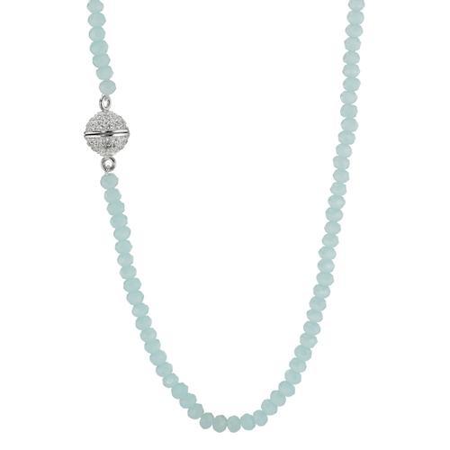 Collier Silber Kristall rhodiniert 36 cm