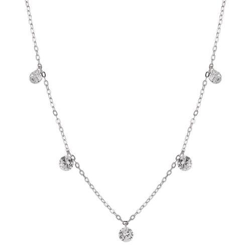 Collier Silber Kristall rhodiniert 40-42 cm verstellbar
