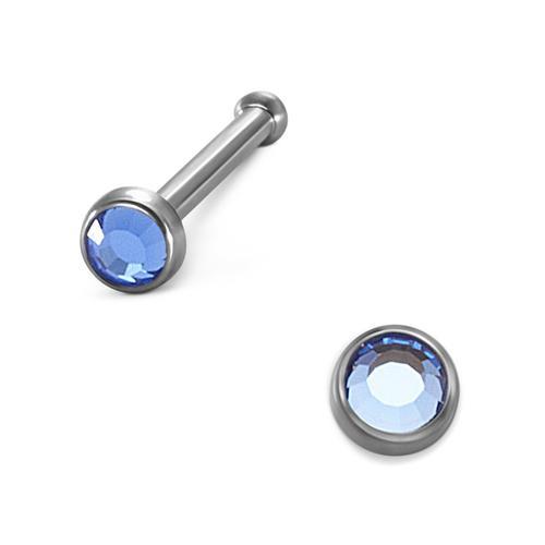 Nasenstecker Titan Kristall Ø2 mm