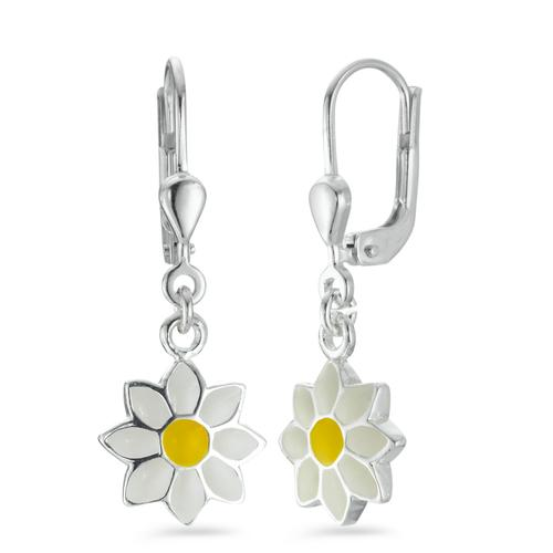 Ohrhänger Silber emailiert Blume