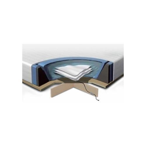 Beliani - Wasserbettmatratzen Set Schaumstoff Polyester Vinyl MDF-Platte für Bett 160 x 200 cm