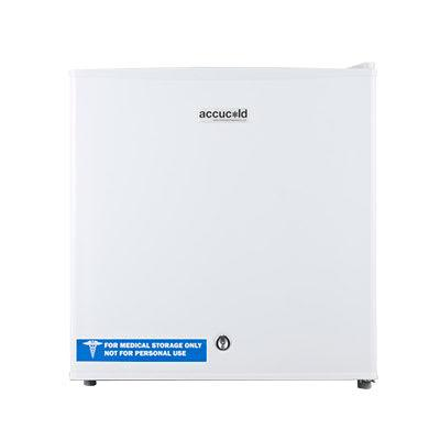 "Accucold FS24L7 18 1/2"" Countertop Medical Freezer - Locking, White, 115v"