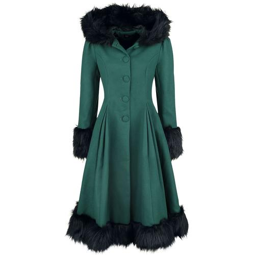 Hell Bunny Elvira Coat Damen-Mantel - petrol