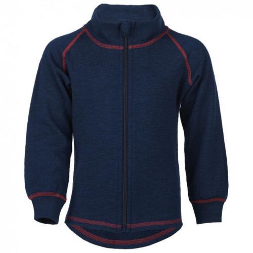 Engel - Kinder-Zip-Jacke Mit Kinnschutz - Wolljacke Gr 140 blau/schwarz