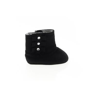 Booties: Black Solid Shoes - Size 1