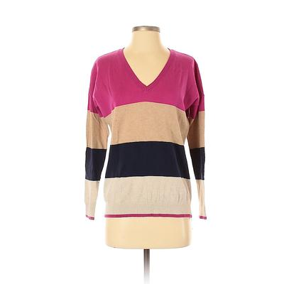 Gap Outlet Pullover Sweater: Pink Stripes Tops - Size X-Small