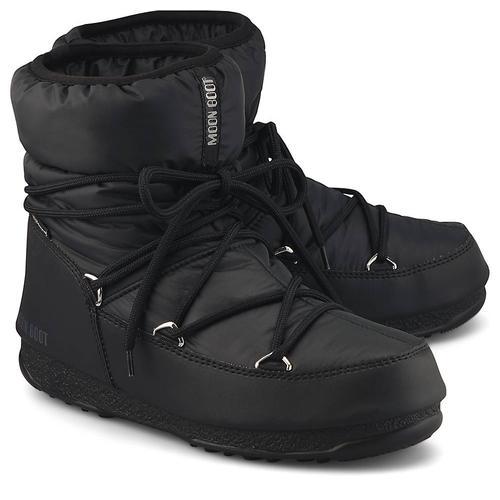 Moon Boot, Moonboots Low Nylon Wp2 in schwarz, Boots für Damen Gr. 39