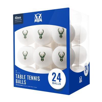 """Milwaukee Bucks 24-Count Logo Table Tennis Balls"""