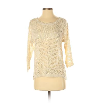 Mossimo Pullover Sweater: Tan Solid Tops - Size Small