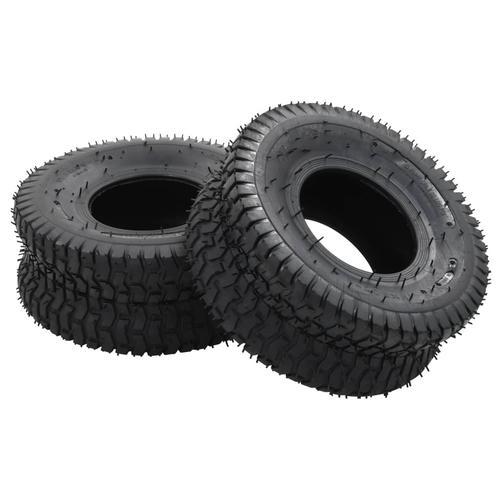 vidaXL 4-tlg. Schubkarrenreifen und Schlauch-Set 15x6.00-6 4PR Gummi