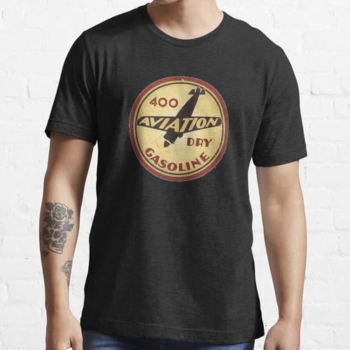 Retro Flugbenzin Essential T-Shirt